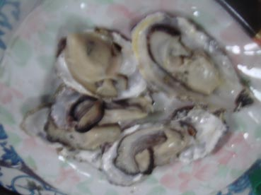 Oyster on half-shell